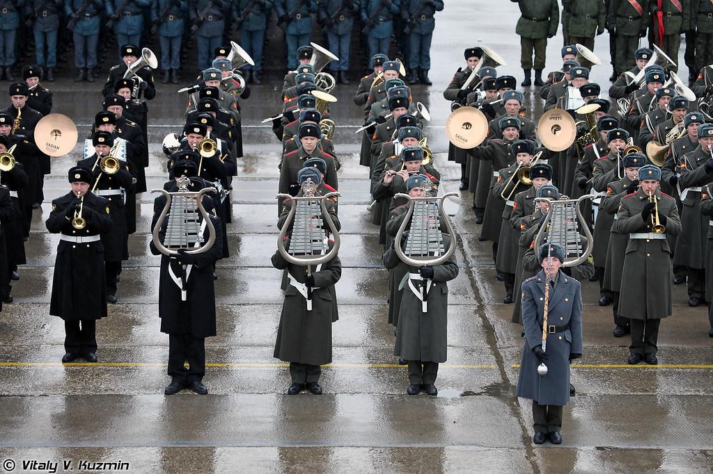 Сводный военный оркестр Московского гарнизона. (Joint Military Orchestra of the Moscow garrison.)