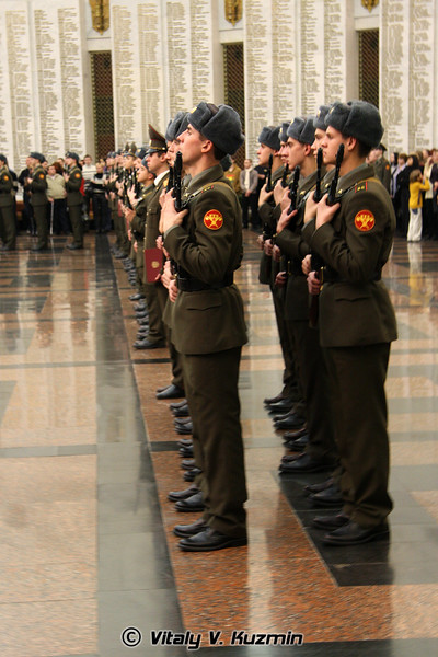 Присяга 154-го отдельного комендантского полка (154 Detached commandant regiment recruits oath)