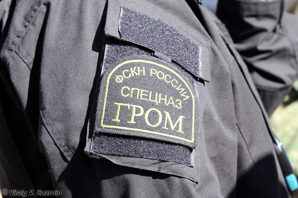 Нарукавные знаки ОСН Гром ФСКН России (Federal Drug Control Service of the Russian Federation Special purpose unit Grom sleeve patches)