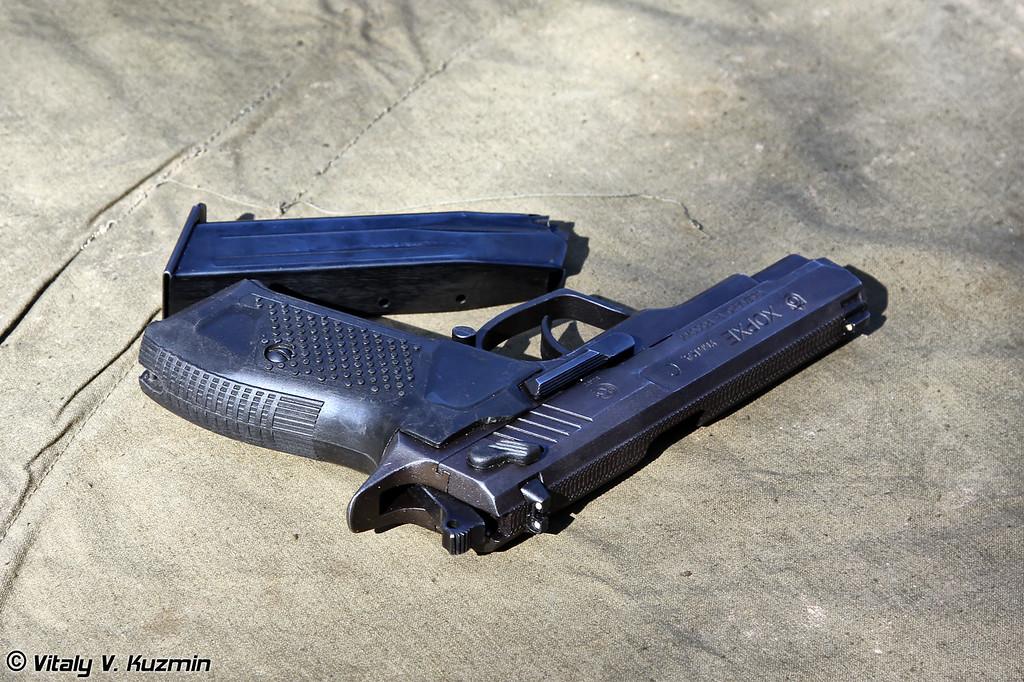 Для стрельбы использовался травматический пистолет Хорхе (Khorkhe pistol was used for shooting)