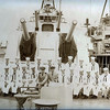 The then hashmark/RM3 Lauretano, Ralph J. is 3rd in from left, front row, as you view photo.  RM3 Valinotti, Joseph is 5th from left, front row. At the DESUB Piers at NORVA before leaving for GITMO in preparation for our 1961-62 Med Cruise. The ship has had it's FRAM job in Portsmouth Naval Shipyards, and is now <br /> I cannot remember the names of the other men in the group.  I know one of them is a Richard Starkey, from Wheeling, West Va., but I'm not sure which one he is.  I believe the officer to be the former Ensign Ladrido, (now Lt. Jg), but again, I'm not sure.