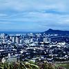 1968 - Honolulu & Diamond Head from Punch Bowl