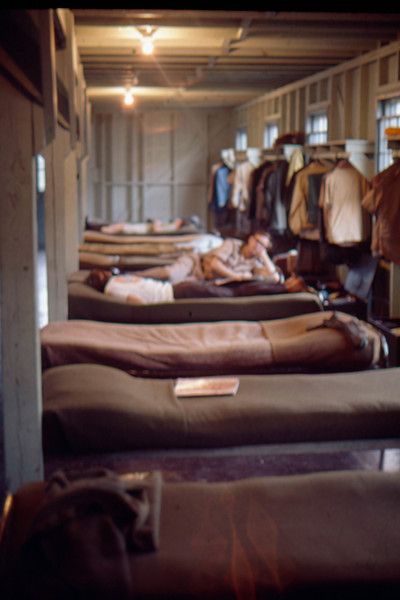 Inside officer's quarters