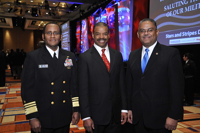 Vice Admiral Mel Willaims, Ken Banks, and Rear Admiral (R) Steve Rochen, Chief Usher, White House