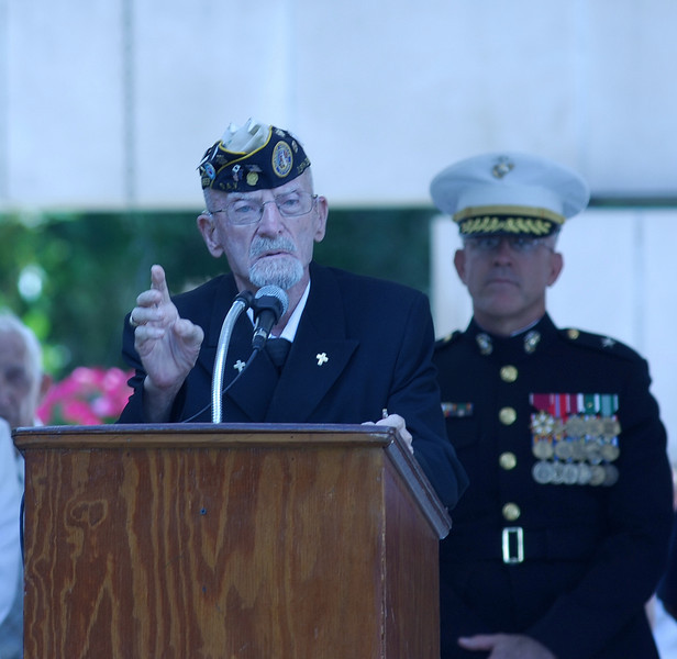 Harold Marcou, Chaplain of the Joint Veterans Committee, gives the Benediction.