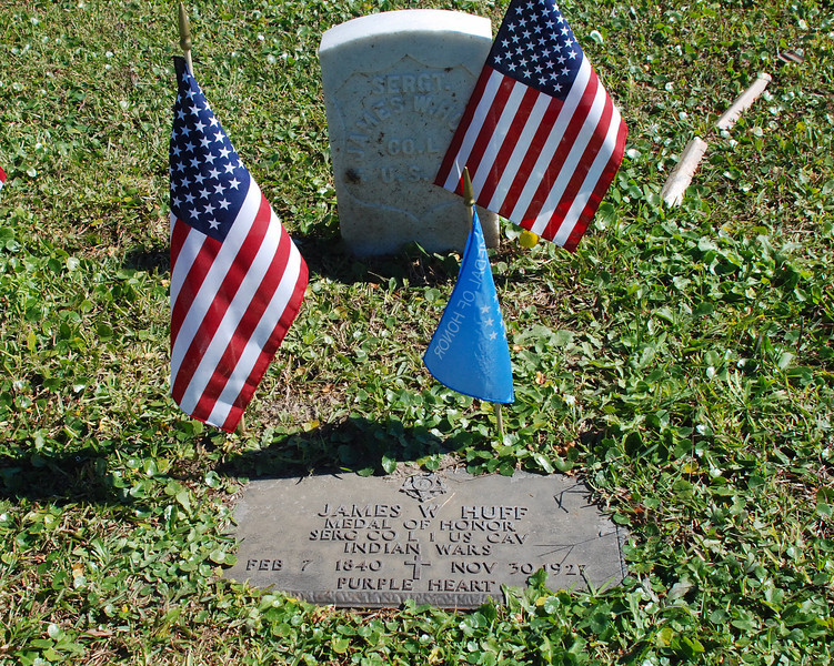 Medal of Honor winner and Purple Heart recipient, veteran of the Indian Wars James W. Huff