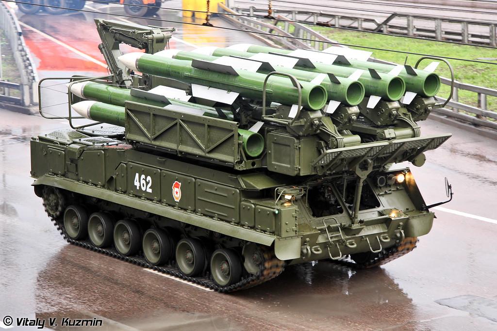 Пуско-заряжающая установка 9А39М1 ЗРК Бук-М1-2 (9A39M1 transporter erector launcher and transloader for Buk-M1-2 air defence system)