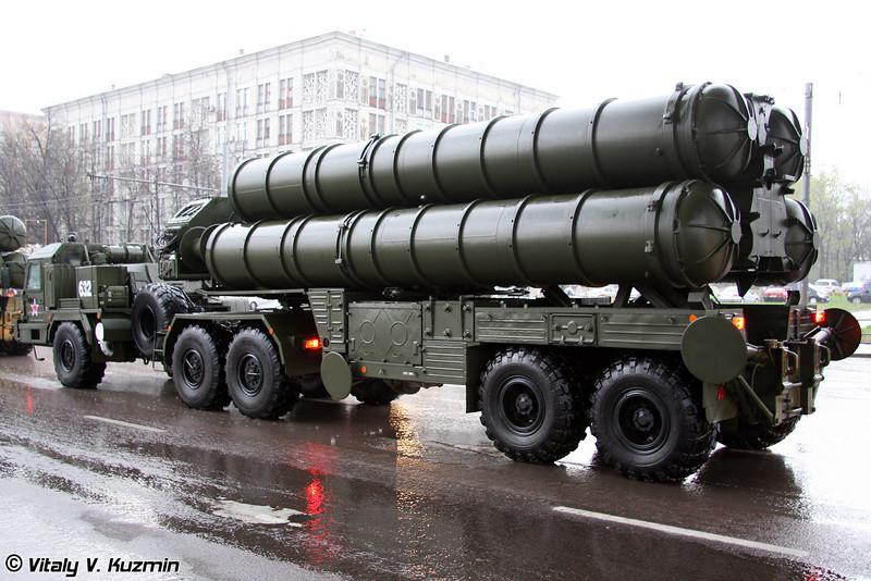 Пусковая установка 5П85ТМ ЗРК С-400 Триумф (5P85TM TEL for S-400 Triumph air defence system)