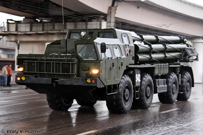 БМ 9А52-2 РСЗО 9К58 Смерч БМ-30 (BM 9A52-2 launch vehicle 9K58 Smerch BM-30 MLRS)