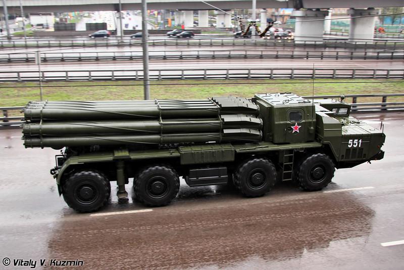 БМ 9А52-2 РСЗО 9К58 Смерч БМ-30 (BM 9A52-2 launch vehicle 9K58 Smerch BM-30 MLRS)