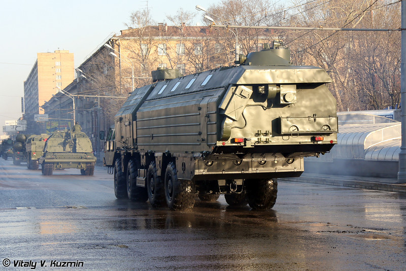 Машина обеспечения боевого дежурства МОБД 15В148 (Combat duty support vehicle 15V148 MOBD for Topol-M ICBM)