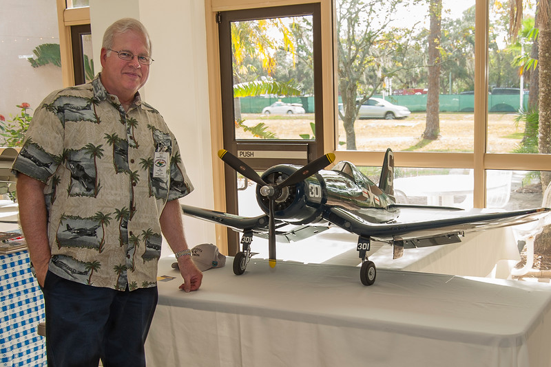 Mr. James Martin member of the Sarasota R/C Squardon and his Hellcat.
