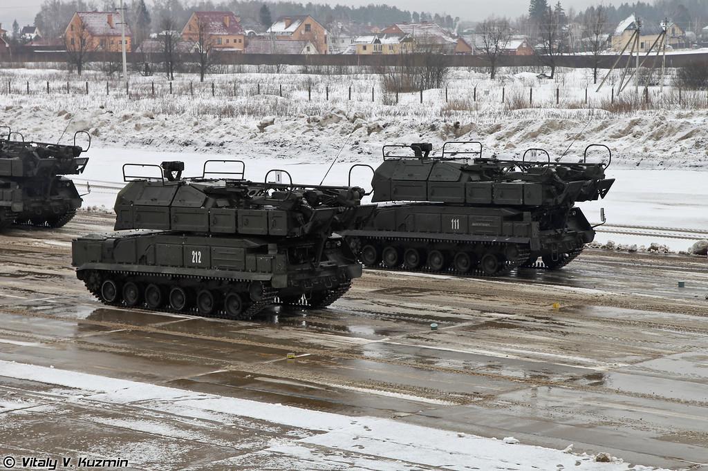 Самоходная огневая установка 9А317 ЗРК Бук-М2 (9A317 self-propelled launching vehicle for Buk-M2 air defence system)