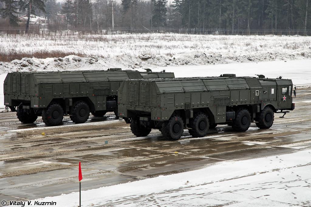 Самоходная пусковая установка 9П78-1 ОТРК Искандер-М (9P78-1 transporter erector launcher for Iskander-M system)