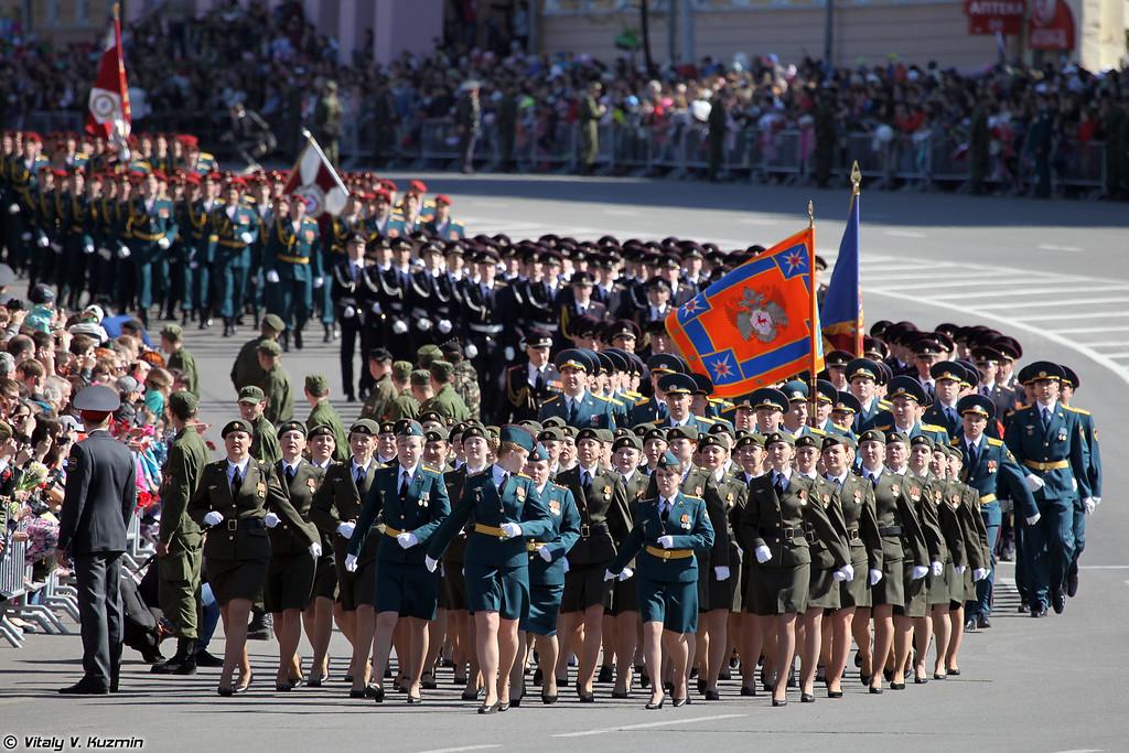 Парадные расчеты войск Нижегородского гарнизона (Combined parade companies)