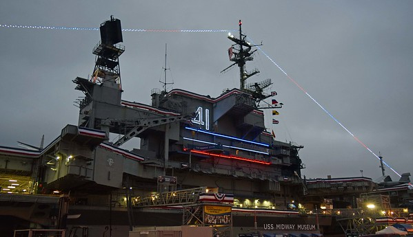 USS Midway Museum at Dusk