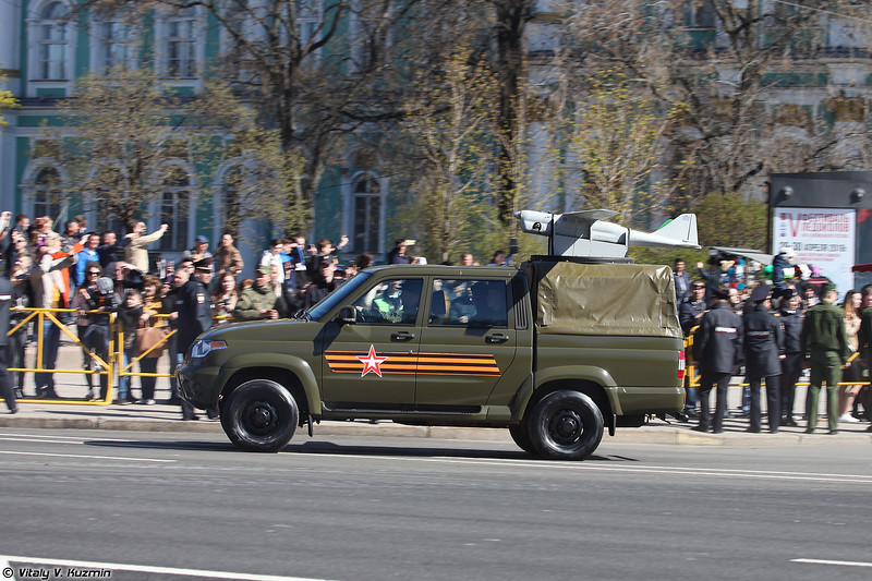 УАЗ-23632-148-65 Пикап с БПЛА Орлан-10 (UAZ-23632-148-65 Pickup with Orlan-10 UAV)
