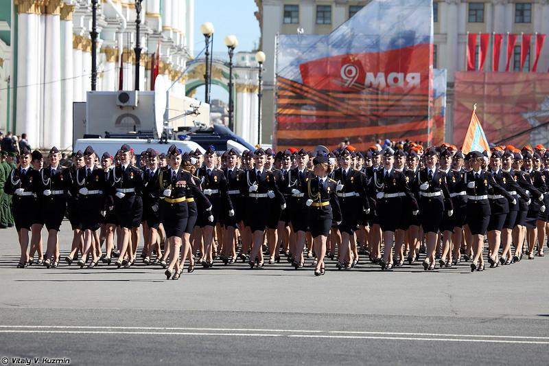 Курсанты СПбУ МВД РФ (Female cadets of Saint Petersburg University of Ministry of Internal Affairs)