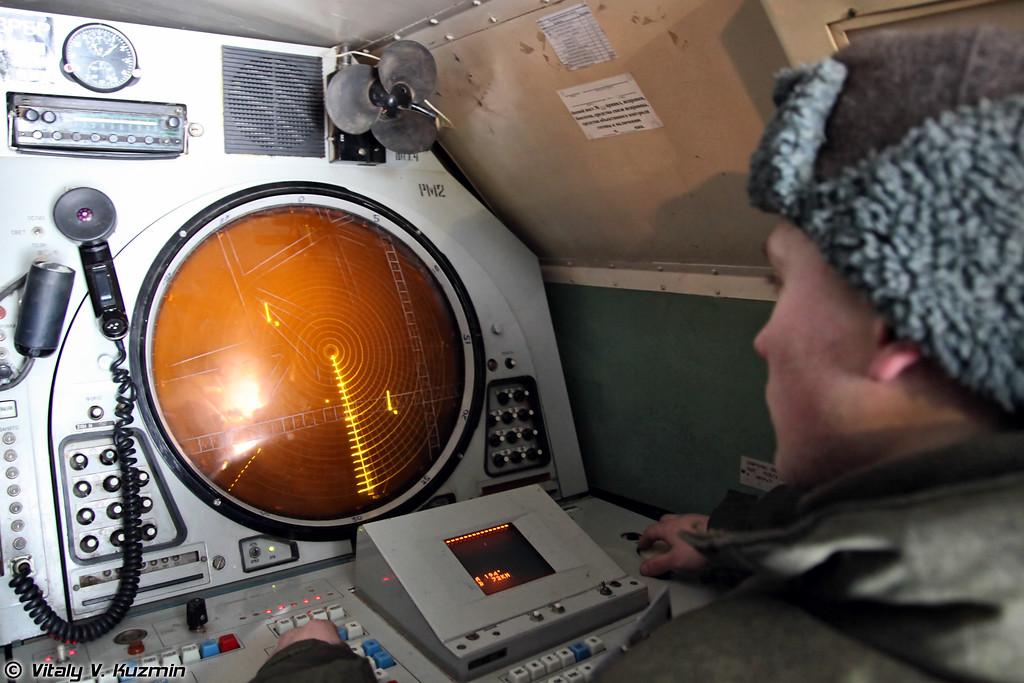 Вид на рабочее место оператора 9С467-1. (Operator place view.)