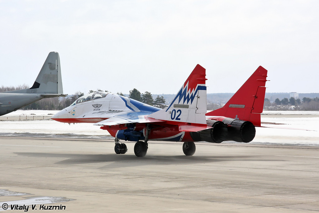 МиГ-29УБ АГВП Стрижи (MiG-29UB The Swifts team)