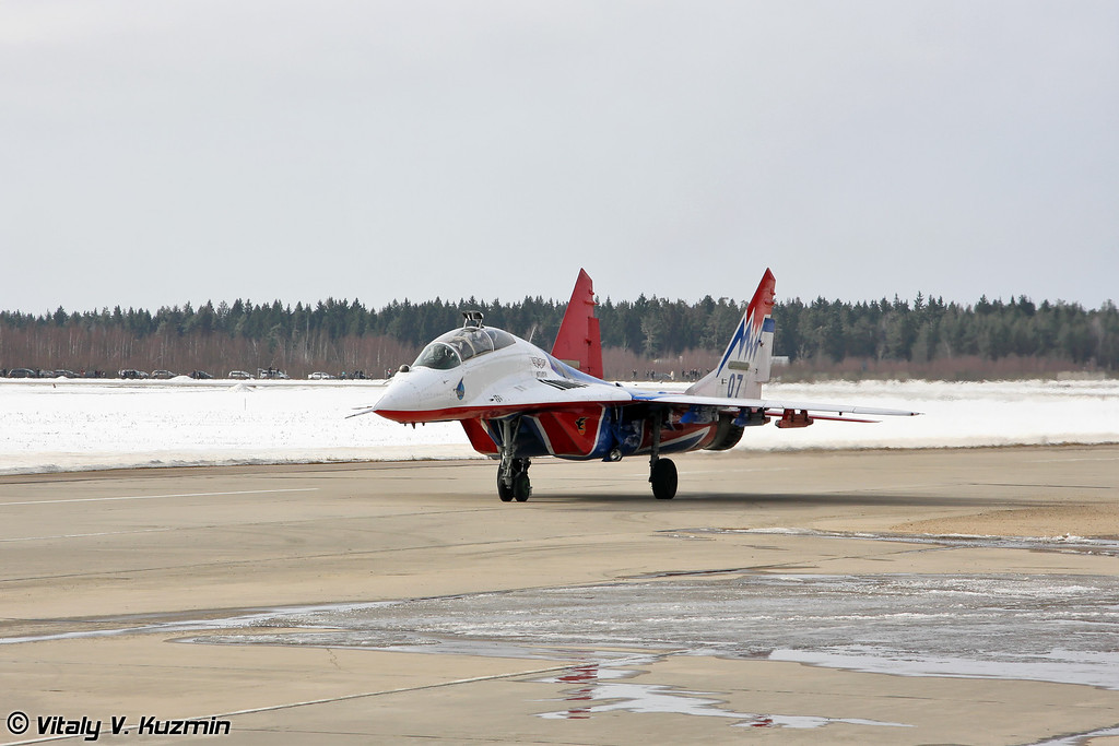 МиГ-29УБ АГВП Стрижи (MiG-29UB The Swifts team)