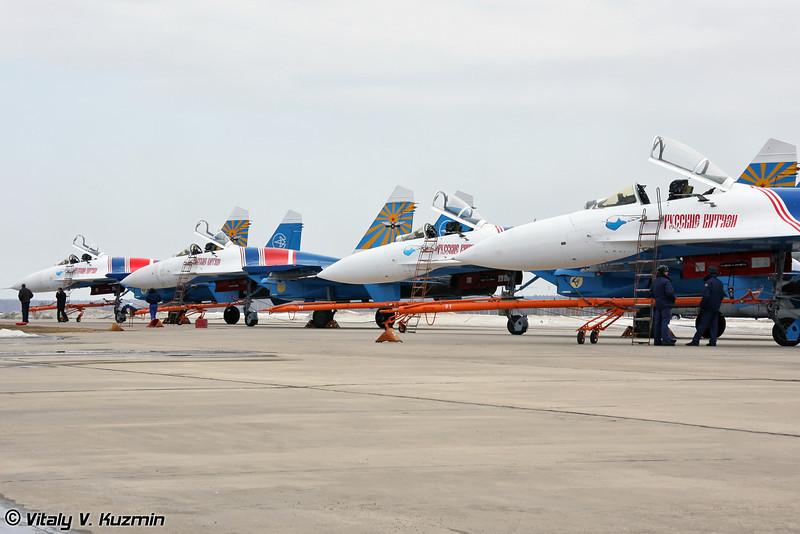 20 лет пилотажной группе Русские Витязи (20th anniversary of the foundation of Russian Knights team)
