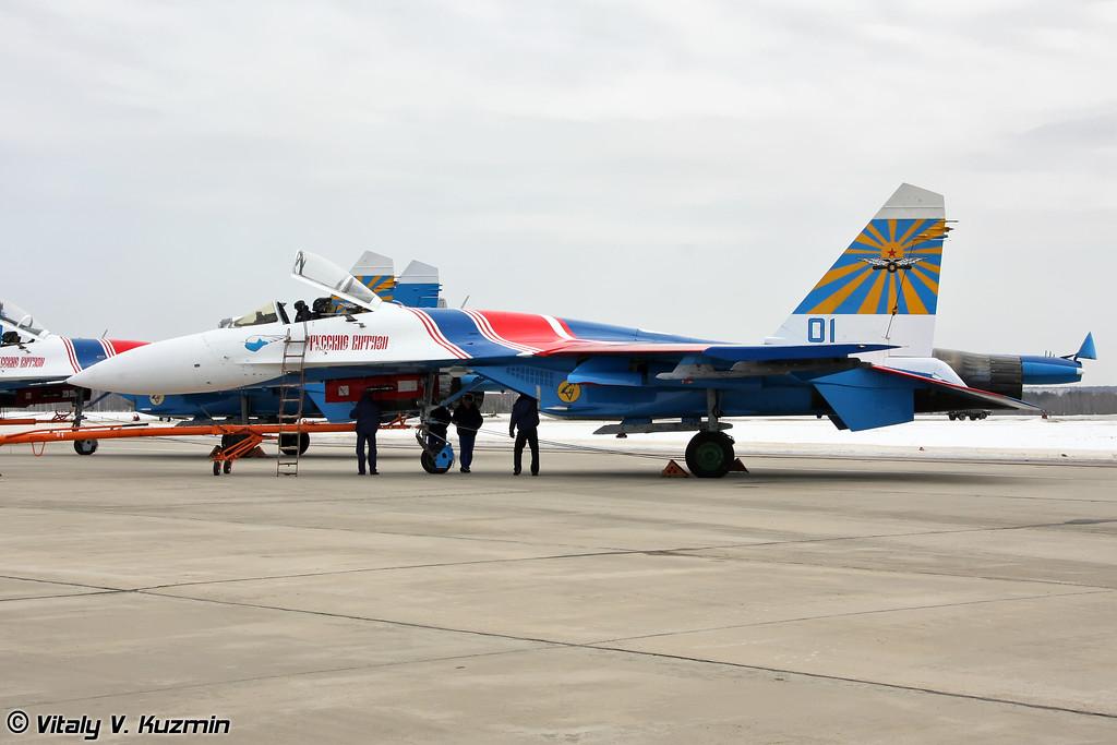 Су-27 АГВП Русские витязи (Su-27 of Russian knights aerobatic team)