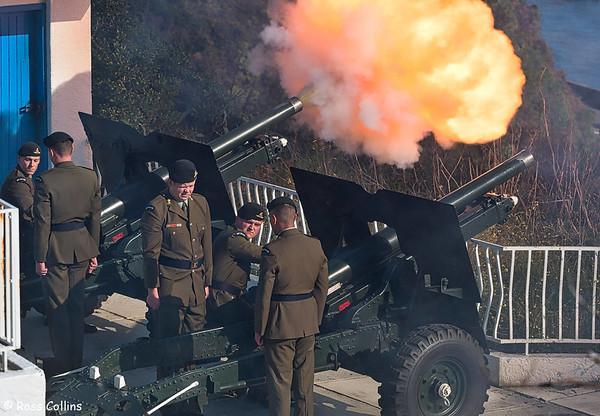 21 Gun Salute, Point Jerningham, Wellington, 2 June 2018