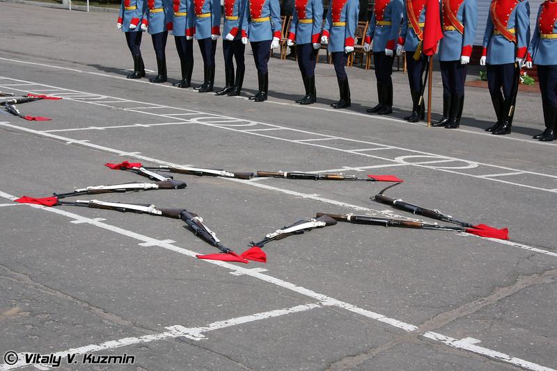 Показательное выступление Отдельной роты Почетного караула 154-го отдельного комендантского полка (154-th Independent regiment Detached honor Guards company show)