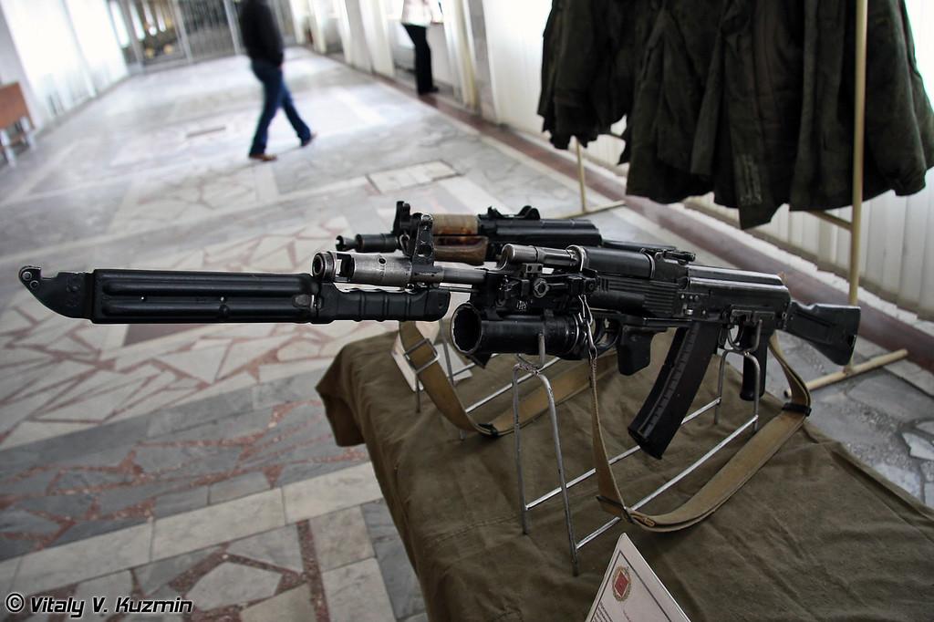 АК-74М с подствольным гранатометом ГП-25 (AK-74M with GP-25 grenade launcher)