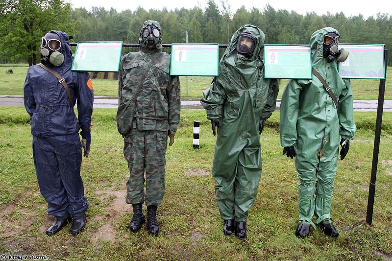 Защитные комплекты ФЗО-Р, ОЗК-Ф, КЗВП и ОЗК (NBC suits PhZO-R, OZK-Ph, KZVP, OZK)