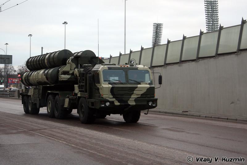 Пусковая установка 5П85Т2 ЗРК С-400 Триумф (5P85T2 S-400 Triumph air defence system transporter erector launcher)