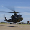 Canadian Forces CF146 Griffon Helicopter landing