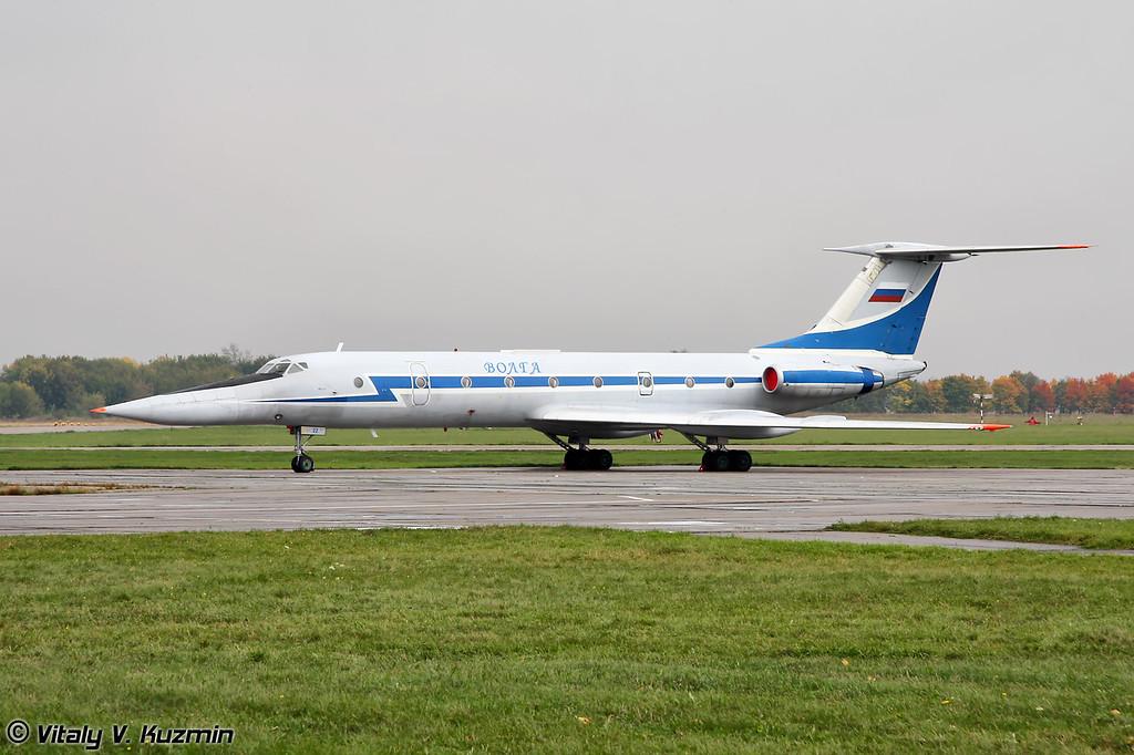"""Данный Ту-134УБЛ является одним из именных самолетов Дальней авиации. Имя """"Волга"""" присвоено самолету 1 июня 2002 г. Базируется на 1449 авиационной базе Тамбов (This Tu-134UBL was named Volga on June 1, 2002 after Volga river. Based on Tambov 1449th aviation base)"""