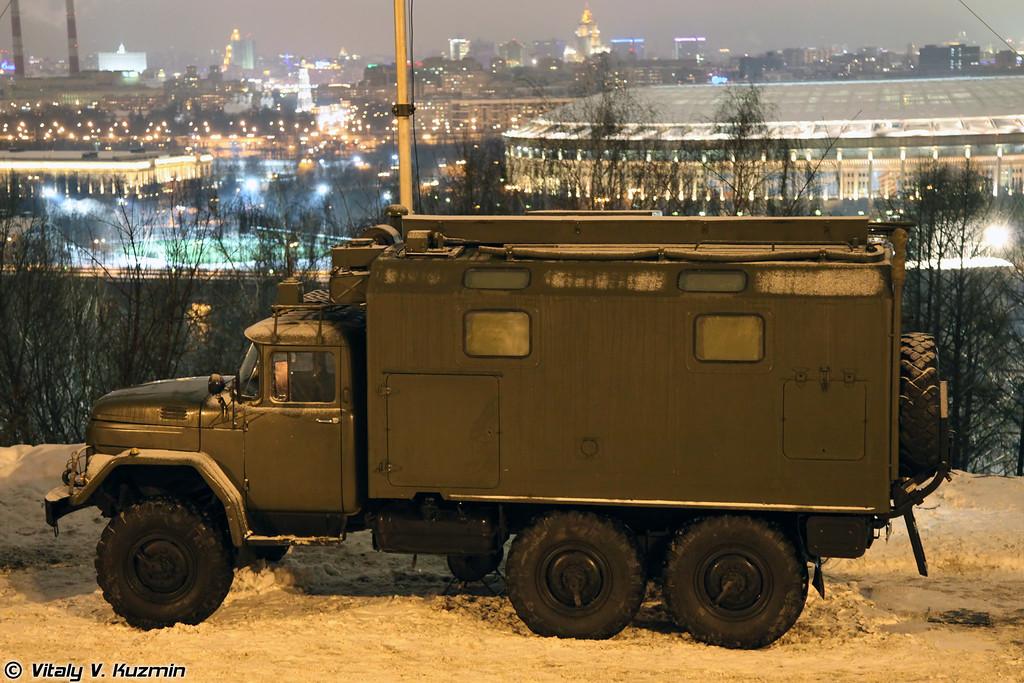 Одна из машин командного пункта дивизиона (One of the vehicles of Battalion command post).