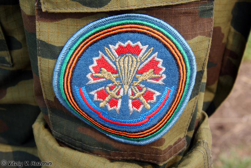 Нарукавный знак 45 отдельного гвардейского полка специального назначения ВДВ (Sleeve patch of 45th Detached Guards Special Purpose Regiment of Airborne troops, the former 45th Detached Reconnaissance Regiment)