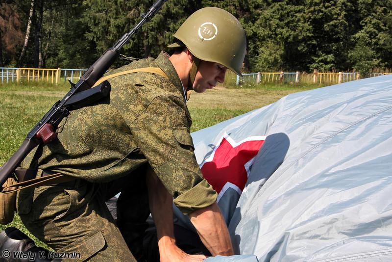 Развертывание пневмо-надувного макета Су-27 (Inflatable Su-27 dummy)