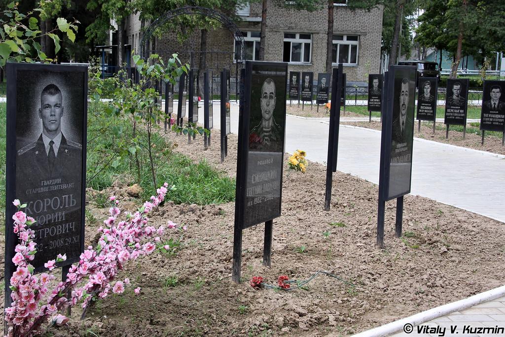 Мемориальные доски в память о погибших воинах рядом с полковым храмом (Memorials to the fallen soldiers and officers)