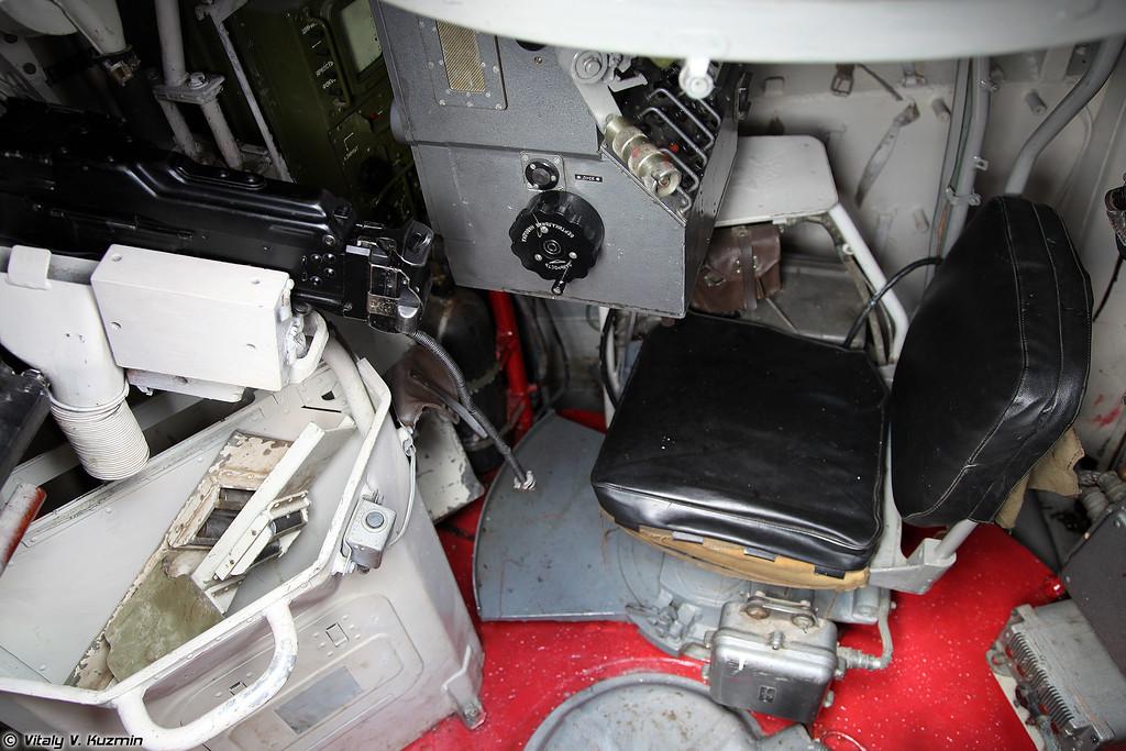 Место командира подразделения в БРМ-1К (Unit commander place in BRM-1K)