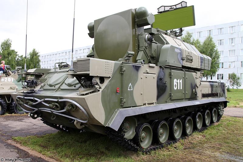 Боевая машина 9А331М ЗРК 9К331М Тор-М2 из состава 538-го гвардейского зенитного ракетного полка (9A331M combat vehicle 9K331M Tor-M2)