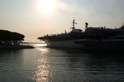 Close to Sunset on the USS Midway