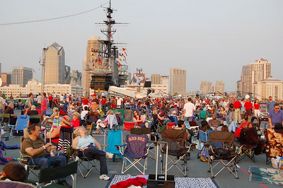Some of 1500 Fireworks Onlookers