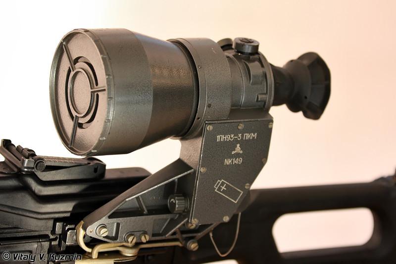 Прицел унифицированный ночной 1ПН93-3 для пулеметов (Night sight 1PN93-3 for machine guns)