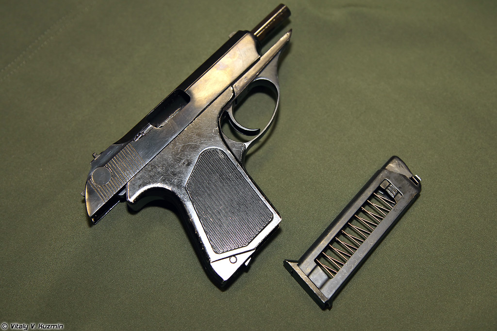 5,45x18 пистолет самозарядный малогабаритный ПСМ (5.45x18 compact pistol PSM)