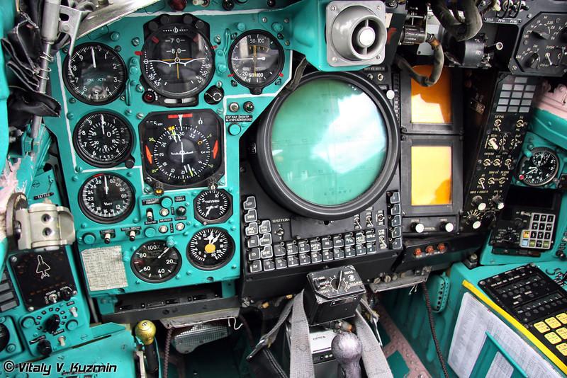Кабина штурмана-оператора МиГ-31 (MiG-31 second pilot cockpit)