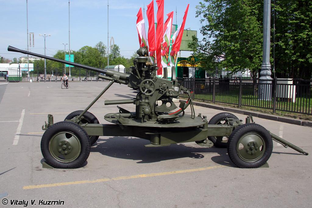 37-мм автоматическая зенитная пушка 61-К образца 1939 года (37-mm AA gun 61-K 1939 model)