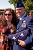 Former 327th Airlift Squadron First Sergeant Patricia Suszko and 913th Airlift Wing Commander Colonel Jody McMullen.