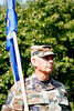 Master Sergeant Dave Guertin and 327th Airlift Squadron guidon