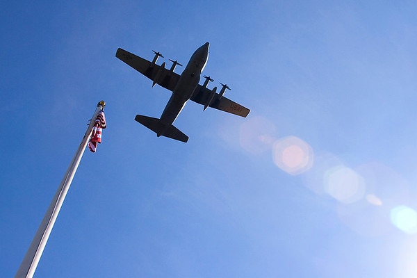 A final fly-by of a C-130 over the 913th Airlift Wing.