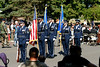 The Base Honor Guard presents the Colors during the inactivation ceremony